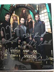 Stargate Atlantis Autograph 8x10 Jason Momoa, Jewel Staite, Cast,Picardo  COA CA