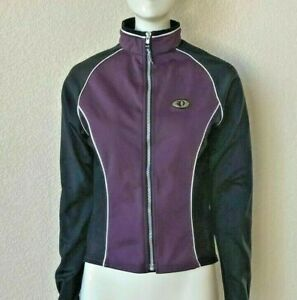 Pearl Izumi Full Zip Fleece Cycling Jacket Women's Size S Purple/Black