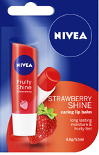 Nivea Lip Balm Strawberry Shine Lasting Moisture and Fruity Tint