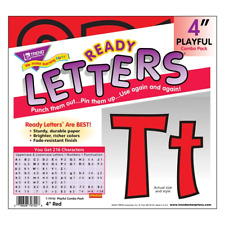 Red 4-Inch Notice Board Display Letters Classroom Decoration 216 Characters