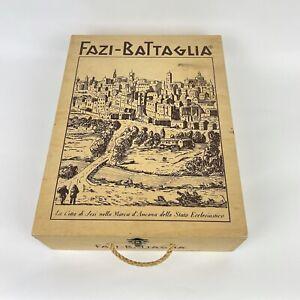 Fazi Battaglia Wine Box Case Wood Crate Panel RARE