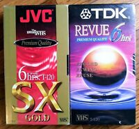 JVC SX Gold VHS Recordable Blank Tapes Lot of 2 (Sealed) 6 Hrs.