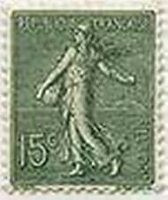 "FRANCE STAMP TIMBRE 130 "" SEMEUSE LIGNEE DE ROTY 15 C VERT GRIS "" NEUF x TB"
