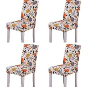 Dining Room  Chair Stretch Covers Set Of 4 Washable