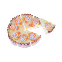 8pcs/set Fruits Lemon Cake Miniature Food Models Dollhouse Accessories JR