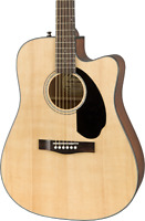Fender CD60SCE Classic Design Dreadnought Acoustic Electric Guitar in Natural