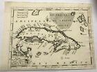 CUBA 1692 VINCENZO CORONELLI VERY UNUSUAL LARGE ANTIQUE MAP 17TH CENTURY