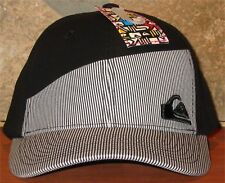 Quiksilver Ball Cap Coin Flip Hat Fits like Small Very Snug Fitted Black White