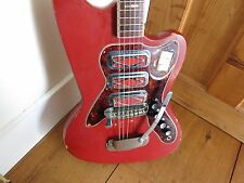"Vintage 1960's Silvertone Silhouette 1488 Electric Guitar ""Color Kat"" So Rare!!!"