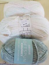 Sidar Soft Spun Chunky and Plymouth Encore Color spun Yarn