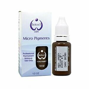 BioTouch Permanent Makeup DARK BROWN Cosmetic Tattoo Ink Micro Pigment 15ml