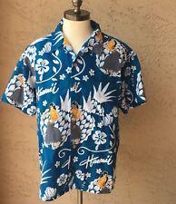 Stitch Hawaiian Aloha Shirt Sz XL Hula Hibiscus Wahine