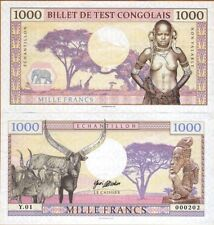 Congo 1000 Francs 2018 UNC SPECIMEN Test Note Banknote - Tribal Nude