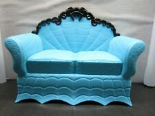 Monster High - Coffin Bean Doll Playset - Furniture - Blue & Black Couch Only