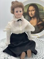 Antique Reproduction, Gibson Girl, Edwardian, 1979, Doll Fine Bisque Porcelain