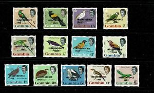 DE876 GAMBIA 1965 Birds - overprinted Independence 1965 MNH