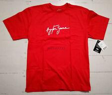 AYRTON SENNA SIGNATURE T-SHIRT RED LICENSED PRODUCT