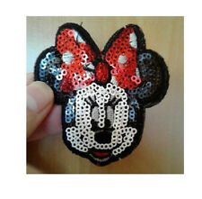 Minnie Mouse - Disney - Cartoon - Sequin - Embroidered Iron On Patch
