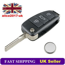 3 Button Car Key Fob Case Shell Blade Repair Kit Battery For AUDI A3 A4 A6 Q7 TT