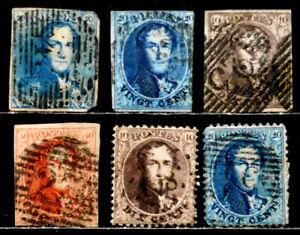 BELGIUM: 1849-63 19TH CENTURY CLASSIC ERA STAMP COLLECTION