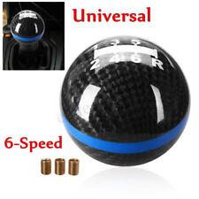 Round Ball Car Gear Shift Knob 6-Speed Carbon Fiber Manual Shifter Aluminium