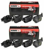 HAWK HP 5.0 FRONT AND REAR BRAKE PADS FOR 1995-1999 BMW M3 2DR 4DR E36 Z3M