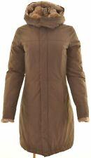 WOOLRICH Womens Windbreaker Coat Size 10 Small Brown Cotton  LW07