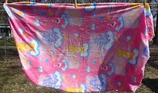 Twin Fitted Bed Sheet Care Bears Fabric Material Shooting Stars Castles Pink