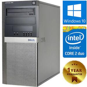 PC COMPUTER DESKTOP RICONDIZIONATO DELL CORE 2 DUO RAM 4GB HDD 250GB WINDOWS 10