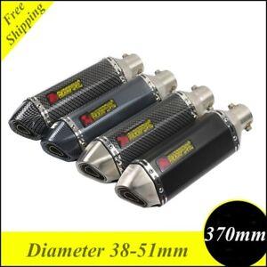 38-51mm Universal Exhaust Muffler Pipe Silencer for Motorcycle Street Dirt Bike