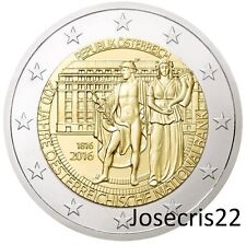2€ CONMEMORATIVA AUSTRIA 2016: 200 Años Banco Nacional de Austria. SIN CIRCULAR