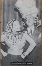 Movie Star 1945 Postcard: CARMEN MIRANDA & Tom Breneman - Hollywood, CA