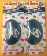 2 x JELLY BELLY 3D BEAN SWEETS SCENT CAR AIR FRESHENER FRESHNER - BLUEBERRY