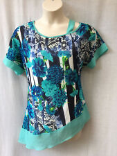 Vivid Size 14 Top NEW Chiffon Floral Work Casual Evening Occasion Party Travel