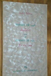 Dédicace d'André Dalmas sur Poèmes de 1948 Ballasts suivi de Le vin pur / J1