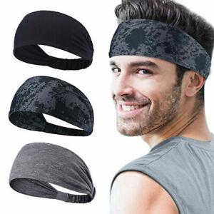 Woman Men Elastic Hair Band Yoga Gym Running Stretch Sports Sweatband Headband