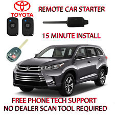 2017 2018 TOYOTA HIGHLANDER REMOTE START-NO WIRE SPLICING-WITH REGULAR KEY ONLY
