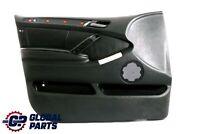 BMW X5 Series E53 Front Left N/S Door Card Leather Trim Panel Walknappa Black