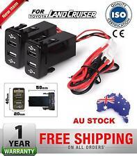2x Dual 2 Port USB Charger Toyota HiLux KUN26 GGN26 3.0 Surf 2005-2015