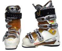 Dalbello Electra 8 Ski Boots Mondo 23.5 Womens 6.5 White/Orange - USED