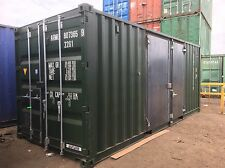 20x8 Container With 8f Side Doors With Extra Door  Secure Lock Boxes