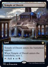 1x Temple of Deceit - Foil - Extended Art MTG Theros Beyond Death NM Magic Foil