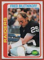 1978 Topps #415 Fred Biletnikoff EX-EX+ HOF Oakland Raiders FREE SHIPPING
