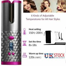 Portable Wireless Automatic Curling Iron Hair Curler LCD Curly Hair Machine UK