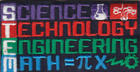 STEM Iron On Patch Science Technology Engineering Math