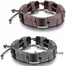 13MM Wide Gothic Punk Leather Belt Mens Boys Bracelet Cuff Wristband Bangle Gift