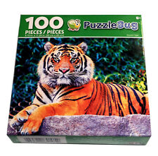 """Majestic Bengal Tiger Jigsaw Puzzle 100 Pieces 8.75"""" X 11.25"""" Piece Puzzle NEW"""