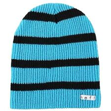 NEFF Men's Daily Stripe Beanie Cyan/Black One Size