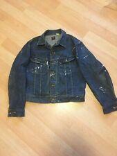 Lee Riders Vintage 60's-70's Union Made Usa 101-J Denim Trucker Jacket Mens 40