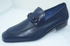 New Salvatore Ferragamo Livingston Mens Blue Shoes Drivers Size 10 Loafers
